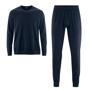 BOB pánské pyžamo pyžamo ze 100% biobavlny - tmavě modrá navy