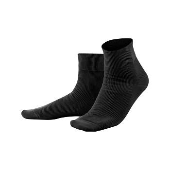 Unisex žebrované ponožky ze 100% biobavlny - černá