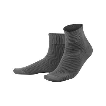Unisex žebrované ponožky ze 100% biobavlny - tmavě šedá