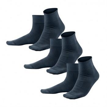 Unisex žebrované ponožky ze 100% biobavlny - tmavě modrá navy (3 páry)