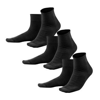 Unisex žebrované ponožky ze 100% biobavlny - černá (3 páry)