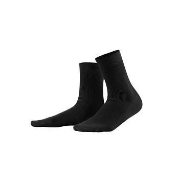 DAVOS unisex ponožky z vlny a biobavlny - černá