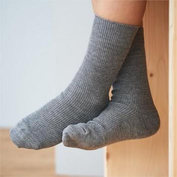 DAVOS unisex ponožky z vlny a biobavlny - šedá melange