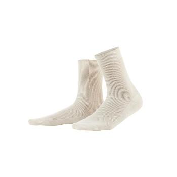 DAVOS unisex ponožky z vlny a biobavlny - přírodní