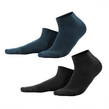 ENID unisex kotníkové ponožky z biobavlny - černá/navy (2 páry)