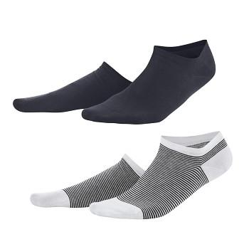 ABBY dámské kotníkové ponožky z biobavlny - navy/bílá (2 páry)
