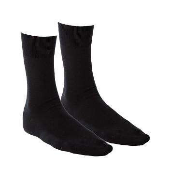 BUSINESS unisex ponožky z biobavlny - černá (2 páry)