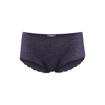 HEDI dámské kalhotky z bio vlny a tencelu - fialová švestková