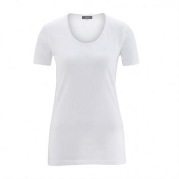 FRIEDA Dámské tričko s krátkými rukávy ze 100% biobavlny - bílá