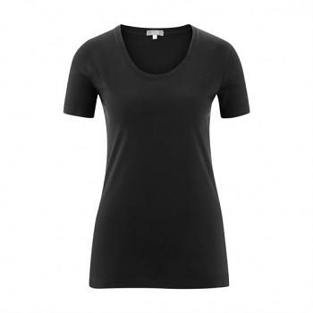 FRIEDA Dámské tričko s krátkými rukávy ze 100% biobavlny - černá