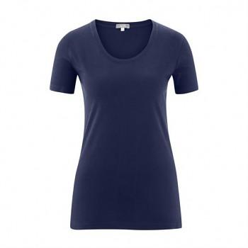FRIEDA Dámské tričko s krátkými rukávy ze 100% biobavlny - tmavě modrá navy