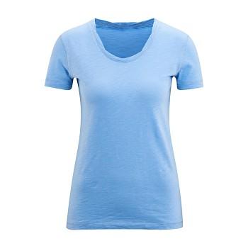 ALEXANDRA Dámské tričko s krátkými rukávy ze 100% biobavlny - světle modrá