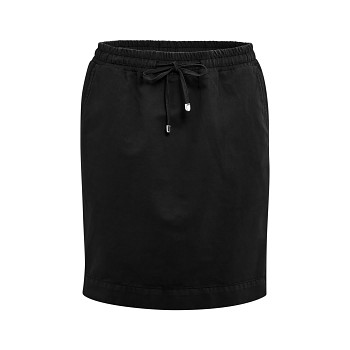GRACE Dámská sukně z bio lnu a bio bavlny - černá