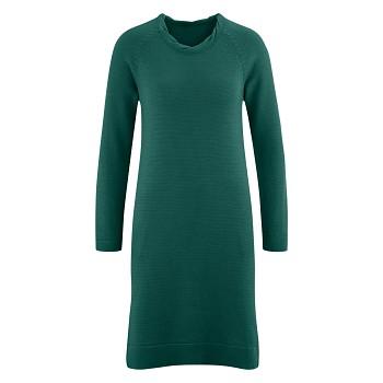 DOTTIE Dámské zimní šaty ze 100% bio merino vlny - zelená