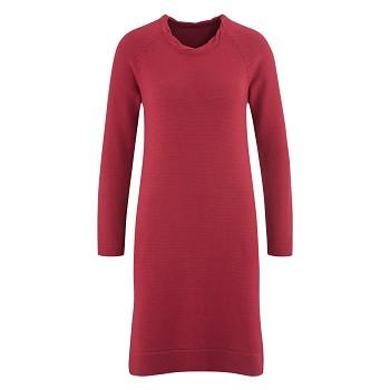 DOTTIE Dámské zimní šaty ze 100% bio merino vlny - červená