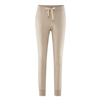 FABRIZIA dámské tepplákové kalhoty ze 100% biobavlny - béžová noisette