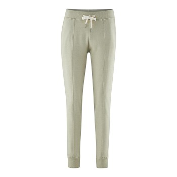FABRIZIA dámské teplákové kalhoty ze 100% biobavlny - světle zelená pistáciová