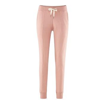 FABRIZIA dámské teplákové kalhoty ze 100% biobavlny - světle růžová jahoda