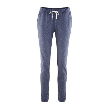 ALISA dámské teplákové kalhoty ze 100% biobavlny - modrá melange