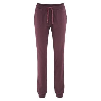 BEA dámské teplákové kalhoty z biobavlny - fialová barolo