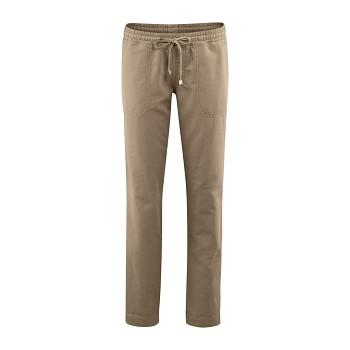 CORAL dámské kalhoty z bio lnu a bio bavlny - béžová