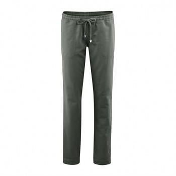 CORAL dámské kalhoty z bio lnu a bio bavlny - khaki