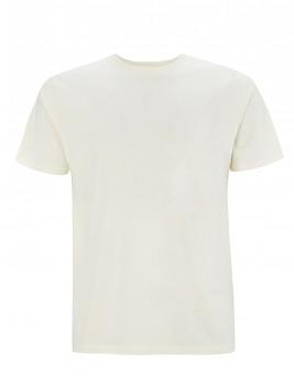Pánské/unisex  tričko s krátkými rukávy z 100% biobavlny - přírodní ecru