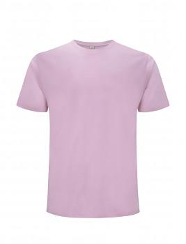 Pánské/unisex  tričko s krátkými rukávy z 100% biobavlny - světle růžová sweet lilac