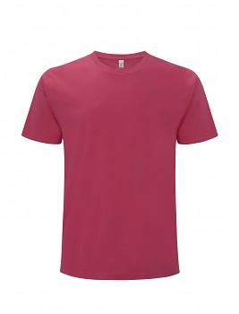 Pánské/unisex  tričko s krátkými rukávy z 100% biobavlny - růžová bright pink