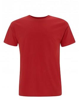 Pánské/unisex  tričko s krátkými rukávy z 100% biobavlny - červená