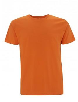 Pánské/unisex  tričko s krátkými rukávy z 100% biobavlny - oranžová