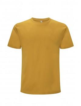 Pánské/unisex  tričko s krátkými rukávy z 100% biobavlny - oranžová mango