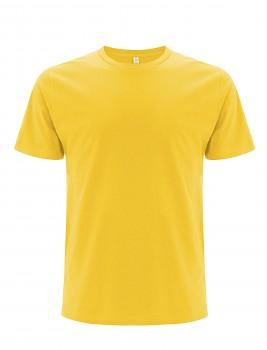 Pánské/unisex  tričko s krátkými rukávy z 100% biobavlny - žlutá buttercup
