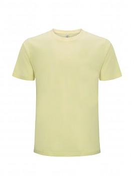 Pánské/unisex  tričko s krátkými rukávy z 100% biobavlny - světle žlutá pale lemon