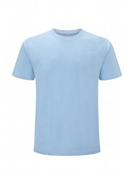 Pánské/unisex  tričko s krátkými rukávy z 100% biobavlny - světle modrá aquamarine