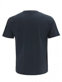 Pánské/unisex  tričko s krátkými rukávy z 100% biobavlny - modrá denim