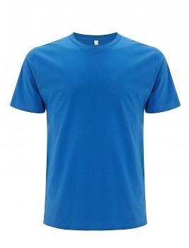 Pánské/unisex  tričko s krátkými rukávy z 100% biobavlny - modrá bright
