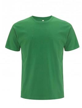 Pánské/unisex  tričko s krátkými rukávy z 100% biobavlny - zelená kelly