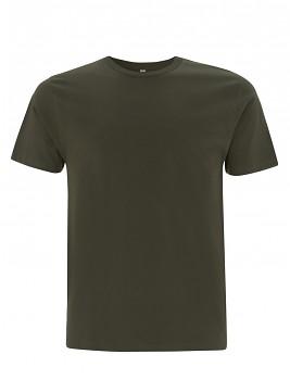 Pánské/unisex  tričko s krátkými rukávy z 100% biobavlny - zelená moss