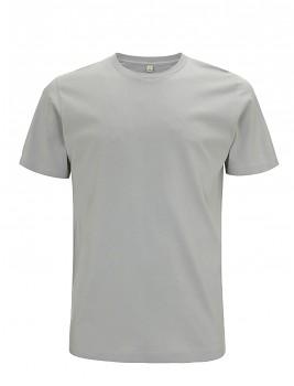 Pánské/unisex  tričko s krátkými rukávy z 100% biobavlny - světle šedá