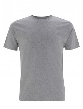 Pánské/unisex  tričko s krátkými rukávy z 100% biobavlny - šedá melange