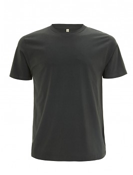 Pánské/unisex  tričko s krátkými rukávy z 100% biobavlny - tmavě šedá