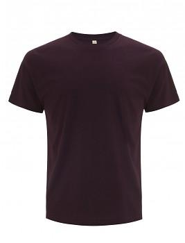 Pánské/unisex  tričko s krátkými rukávy z 100% biobavlny - fialová eggplant