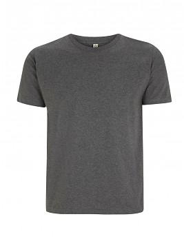 Pánské/unisex  tričko s krátkými rukávy z 100% biobavlny - tmavě šedá dark heather