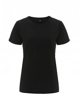 Dámské tričko s krátkými rukávy z 100% biobavlny - černá