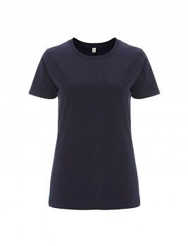 Dámské tričko s krátkými rukávy z 100% biobavlny - tmavě modrá navy