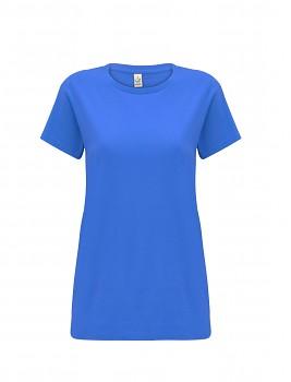 Dámské tričko s krátkými rukávy z 100% biobavlny - modrá bright blue