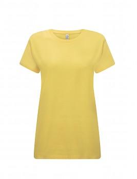 Dámské tričko s krátkými rukávy z 100% biobavlny - žlutá buttercup