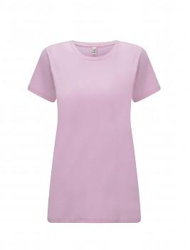 Dámské tričko s krátkými rukávy z 100% biobavlny - růžová sweet lilac