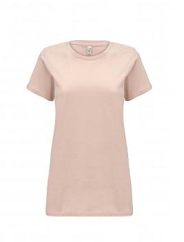 Dámské tričko s krátkými rukávy z 100% biobavlny - růžová misty pink